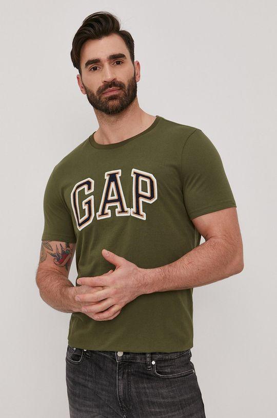 brązowa zieleń GAP - T-shirt Męski