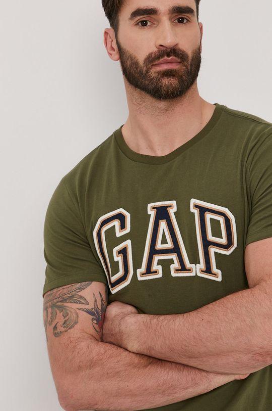 brązowa zieleń GAP - T-shirt