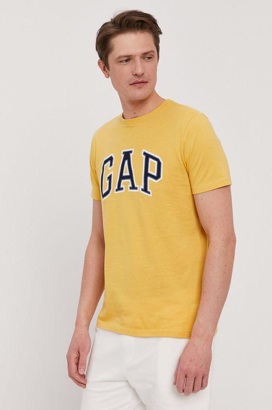 złoty GAP - T-shirt Męski