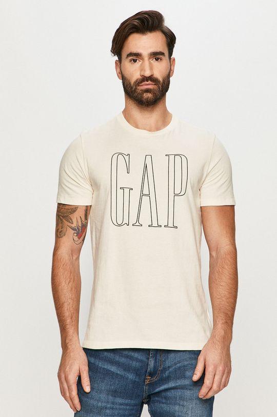 kremowy GAP - T-shirt Męski