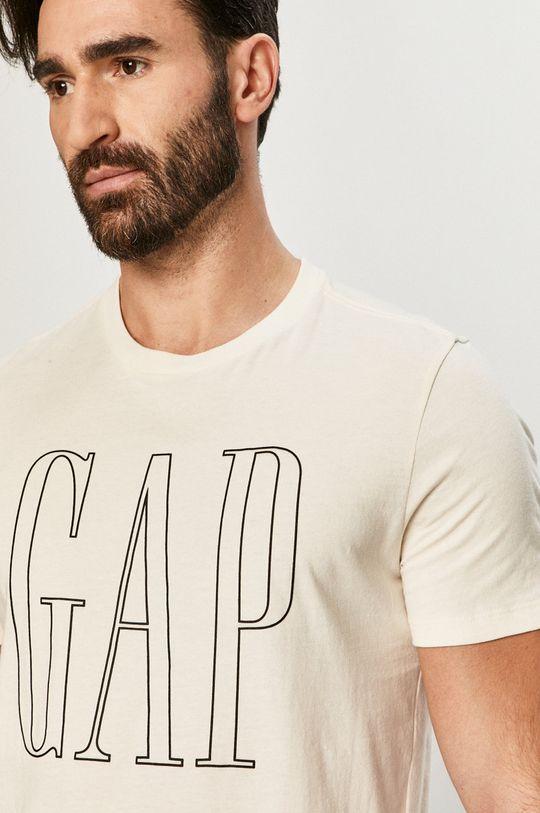 kremowy GAP - T-shirt