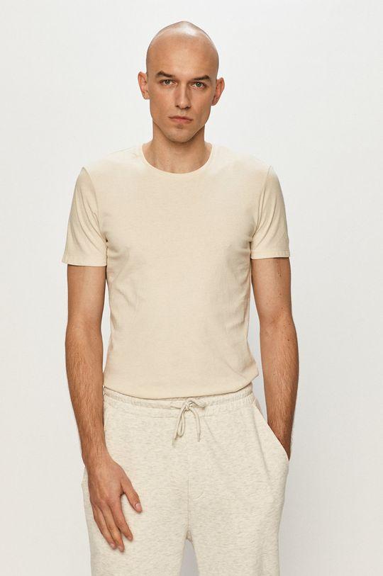béžová Tom Tailor - Tričko Pánský