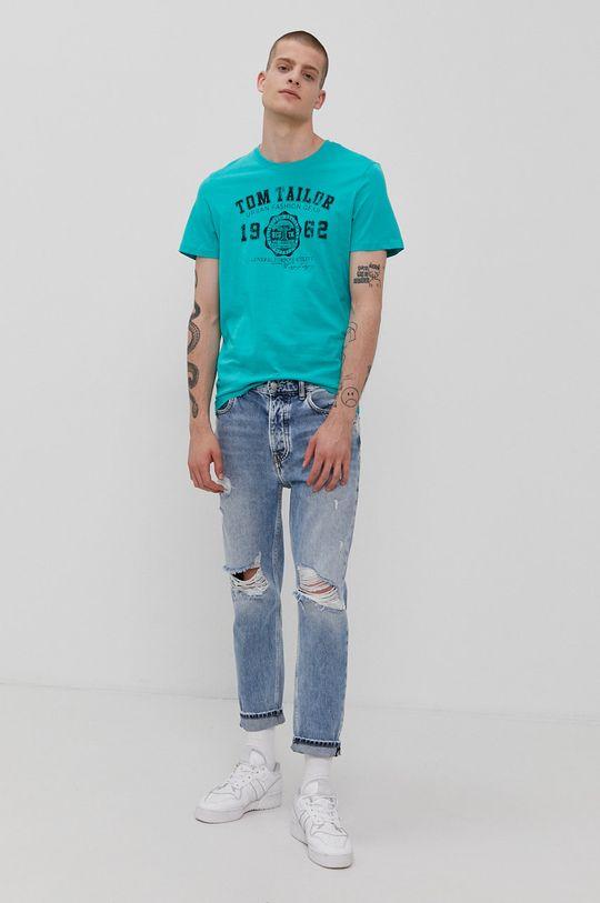 Tom Tailor - T-shirt zielony