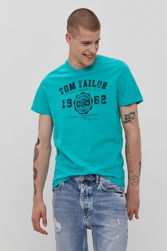 zielony Tom Tailor - T-shirt