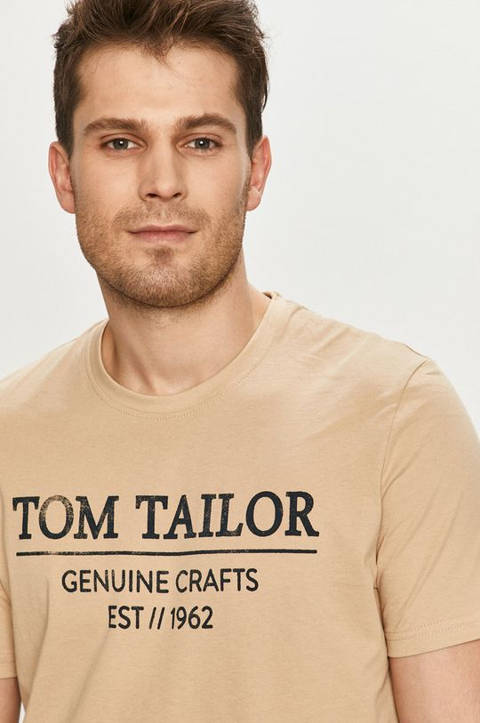beżowy Tom Tailor - T-shirt