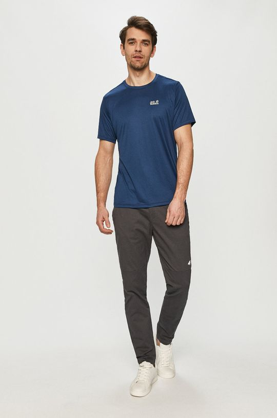 Jack Wolfskin - T-shirt stalowy niebieski