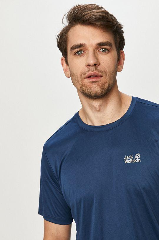stalowy niebieski Jack Wolfskin - T-shirt