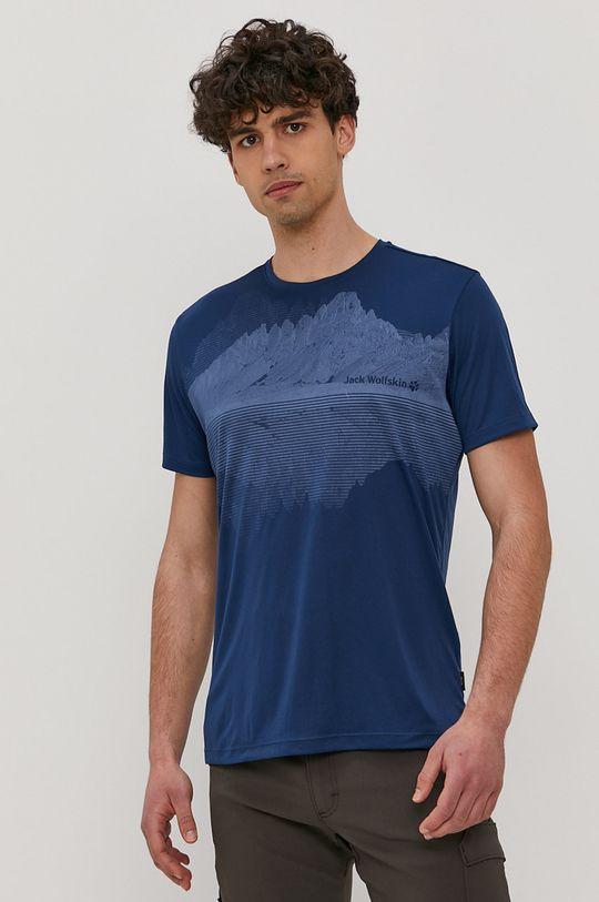 stalowy niebieski Jack Wolfskin - T-shirt Męski