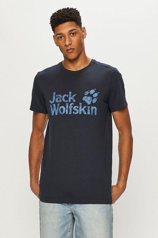 námořnická modř Jack Wolfskin - Tričko Pánský