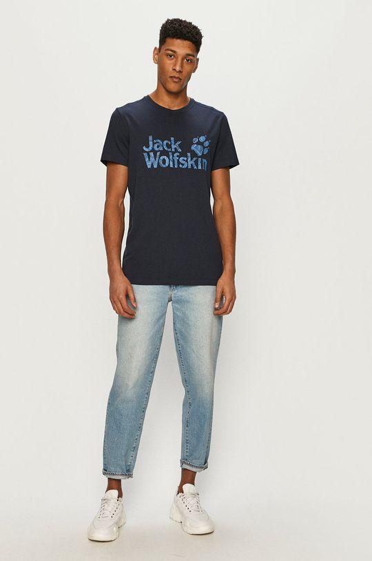 Jack Wolfskin - Tričko námořnická modř