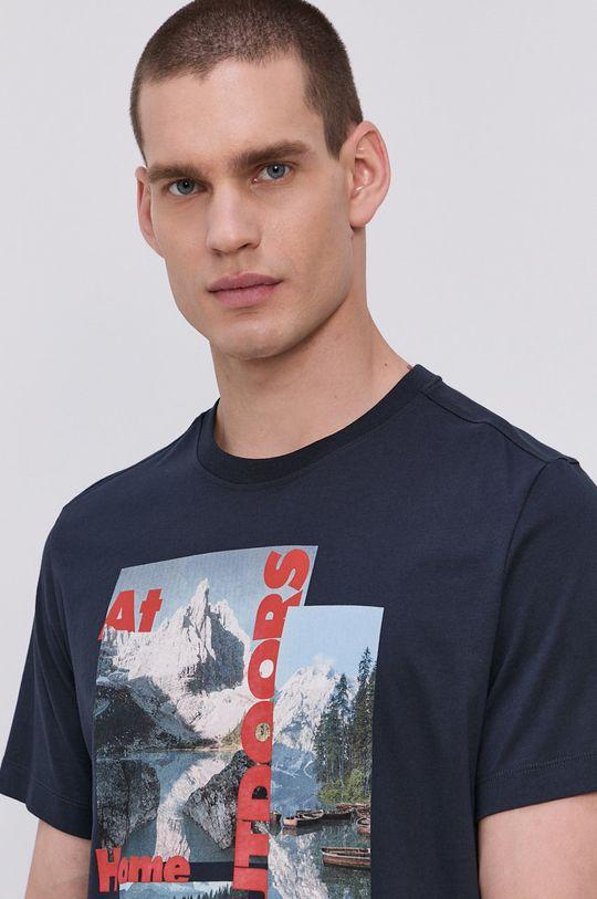 Jack Wolfskin - T-shirt granatowy