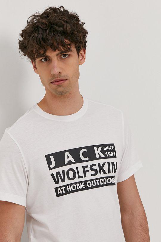 bílá Jack Wolfskin - Tričko Pánský