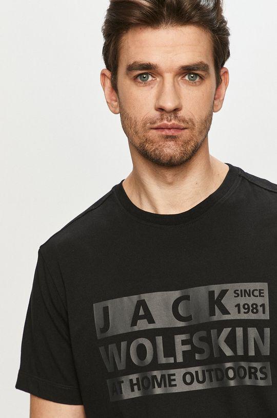 černá Jack Wolfskin - Tričko Pánský