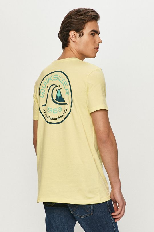 jasny żółty Quiksilver - T-shirt Męski