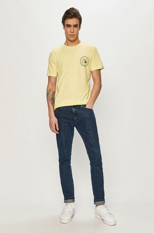 Quiksilver - T-shirt jasny żółty