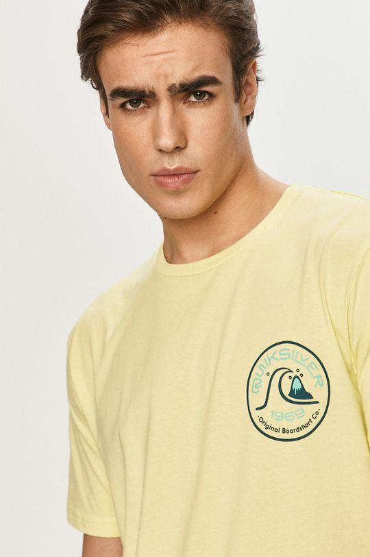 jasny żółty Quiksilver - T-shirt