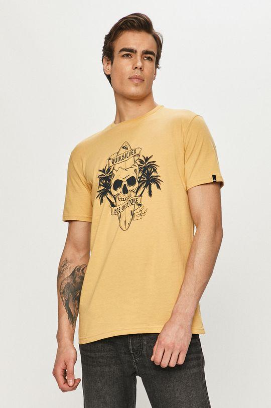 žlutá Quiksilver - Tričko Pánský