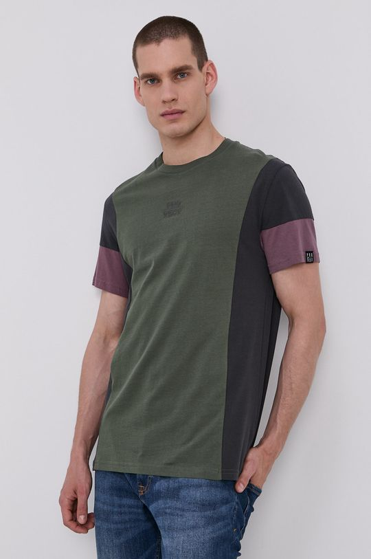 brudny zielony Protest - T-shirt Męski