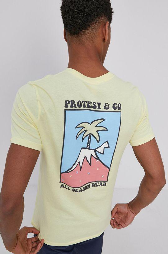 żółty Protest - T-shirt Męski