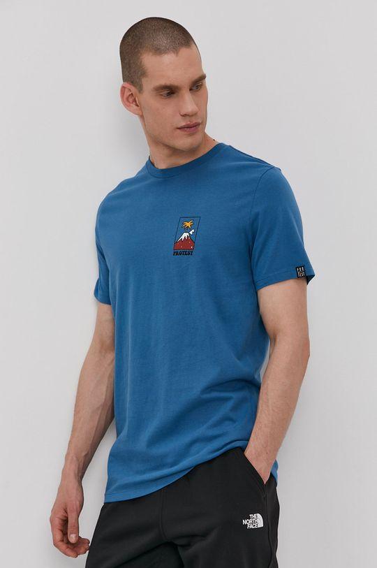 ocelová modrá Protest - Tričko