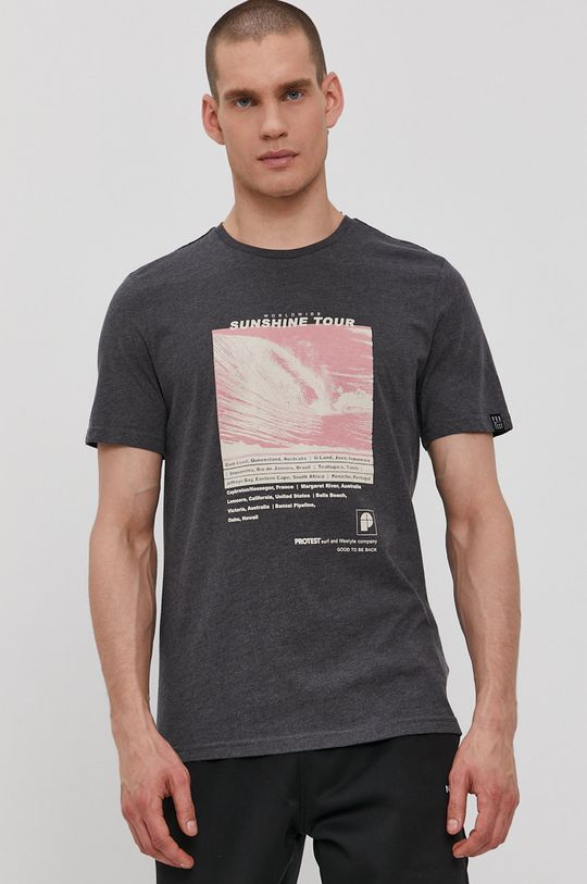 szary Protest - T-shirt