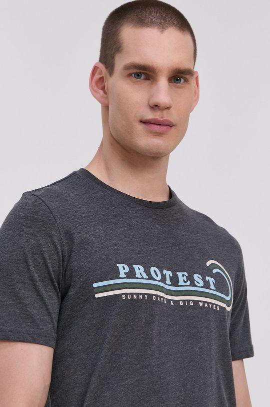 Protest - Tričko sivá