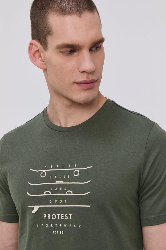 Protest - Tričko tlumená zelená