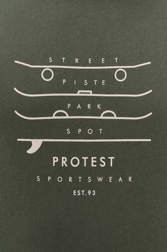 tlumená zelená Protest - Tričko