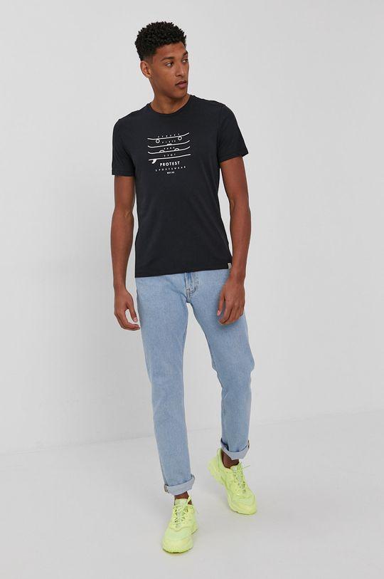 Protest - T-shirt czarny