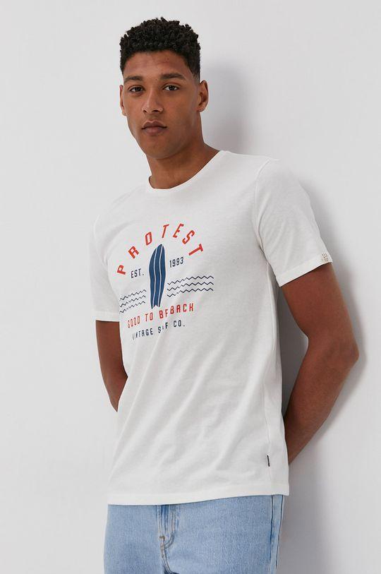 bílá Protest - Tričko Pánský