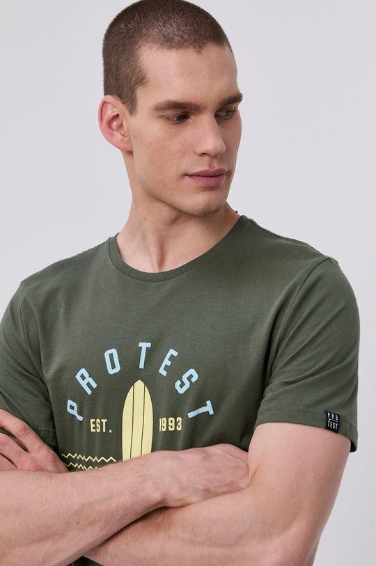 Protest - T-shirt brudny zielony