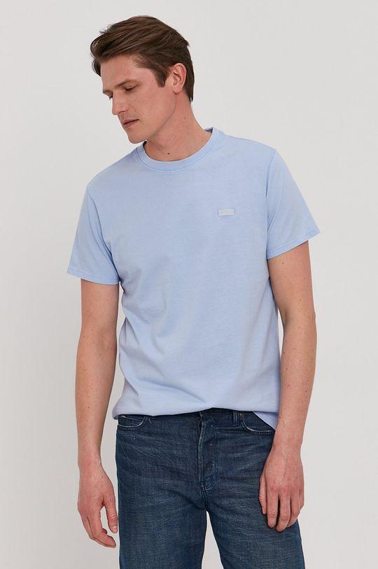 jasny niebieski Guess - T-shirt Męski