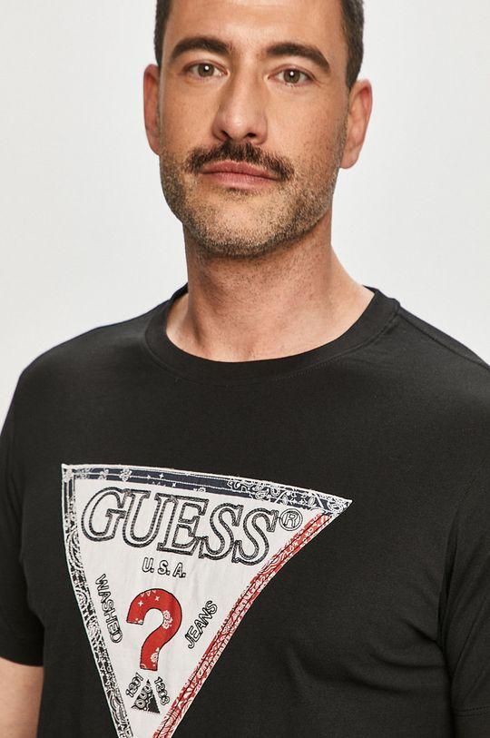 černá Guess - Tričko Pánský