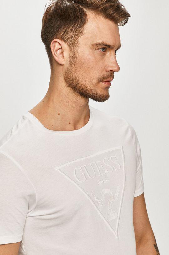 biały Guess - T-shirt Męski