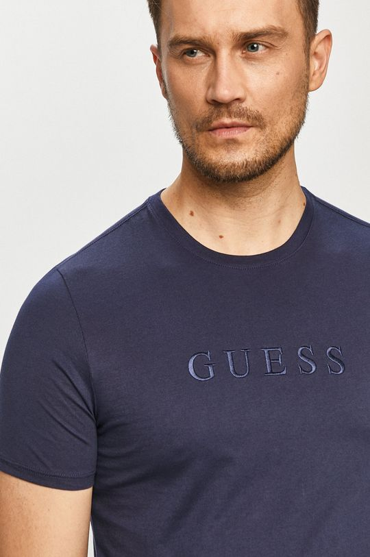 tmavomodrá Guess - Tričko Pánsky