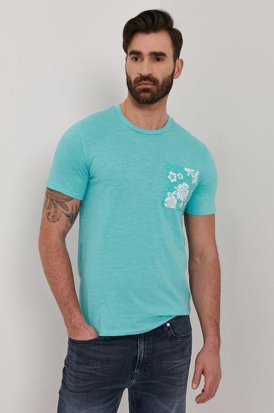 miętowy Guess - T-shirt Męski