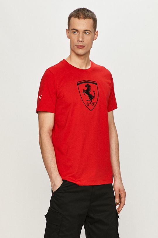 ostry czerwony Puma - T-shirt Męski