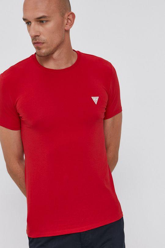 czerwony Guess - T-shirt Męski