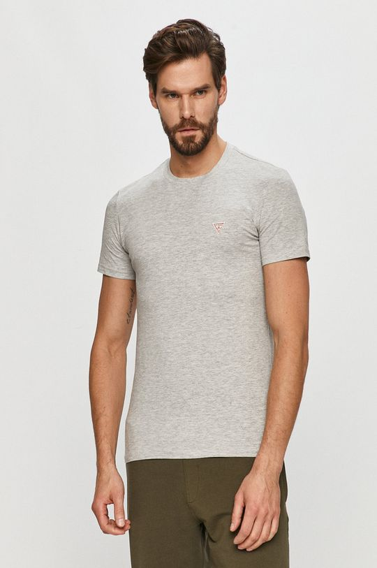 szary Guess - T-shirt Męski