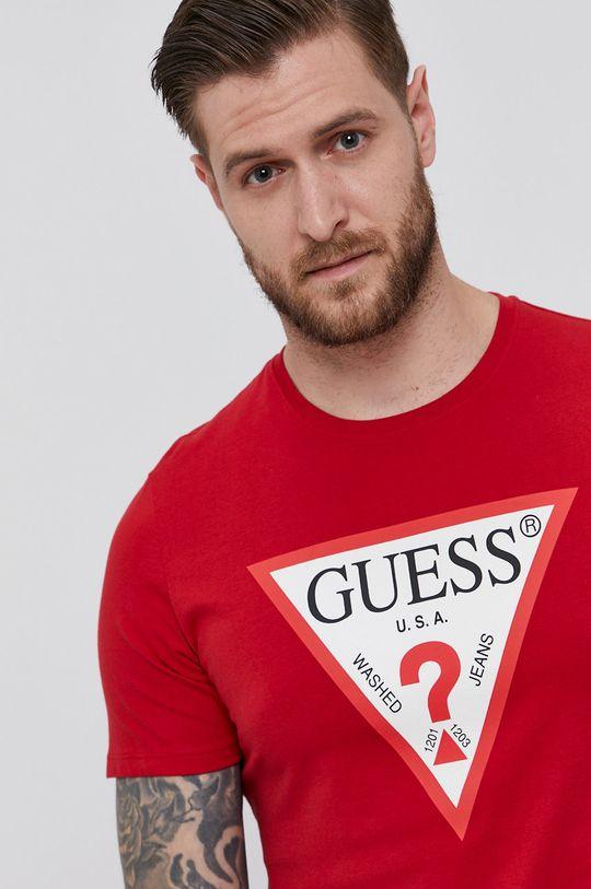 czerwony Guess - T-shirt