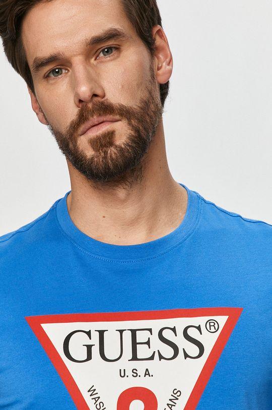 niebieski Guess - T-shirt