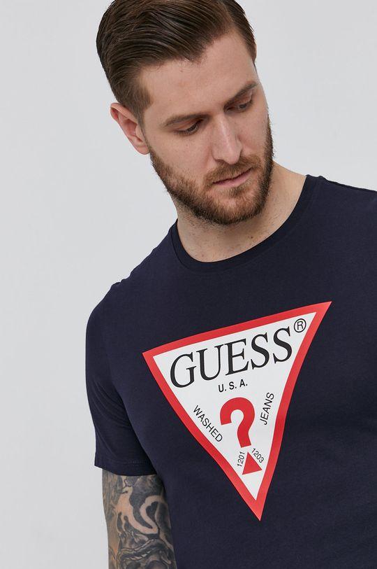 granatowy Guess - T-shirt
