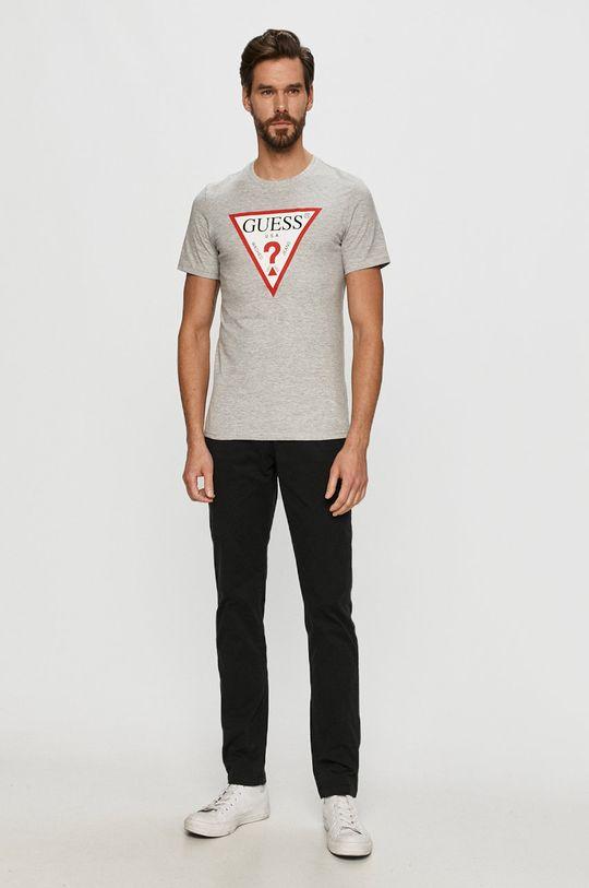 Guess - T-shirt szary