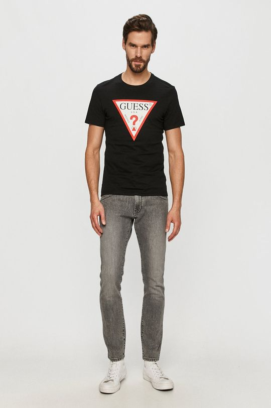 Guess - T-shirt czarny