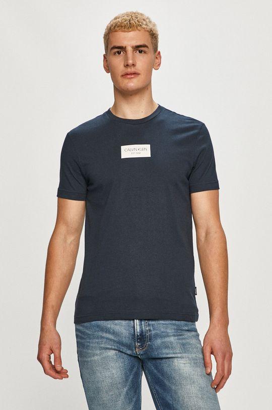 tmavomodrá Calvin Klein - Tričko Pánsky