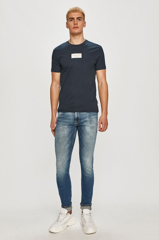 Calvin Klein - Tričko tmavomodrá
