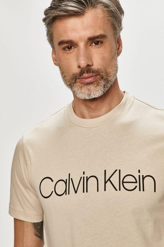 piaskowy Calvin Klein - T-shirt Męski