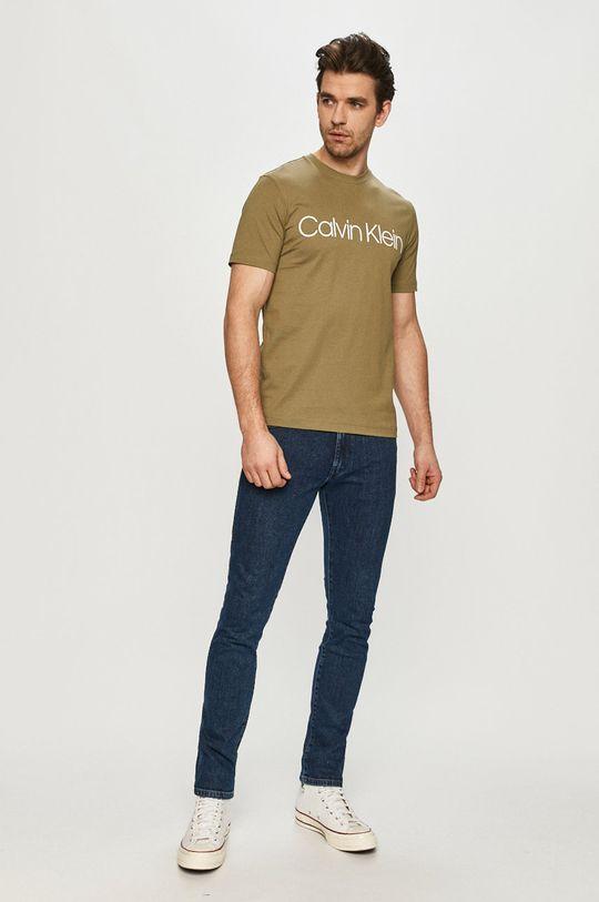 Calvin Klein - Tričko hnedozelená