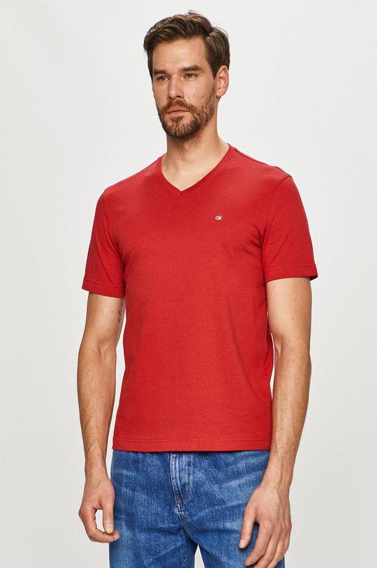 červená Calvin Klein - Tričko Pánsky