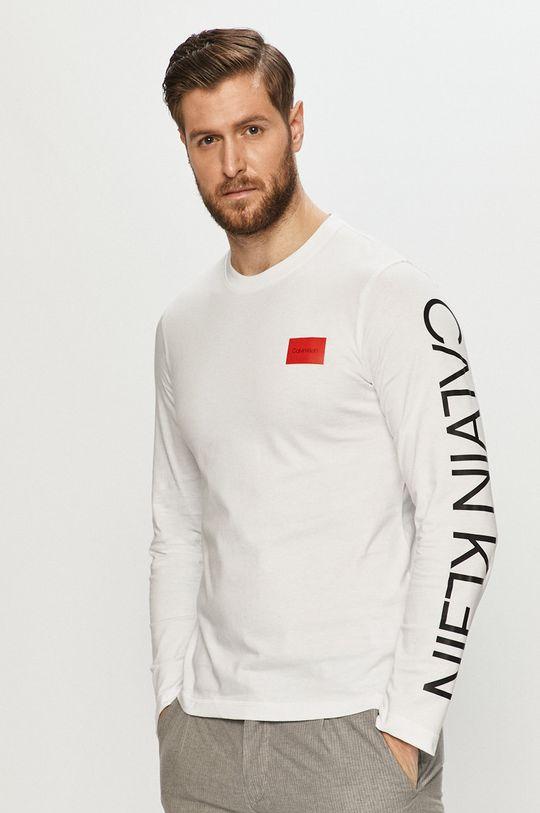 biały Calvin Klein - Longsleeve Męski
